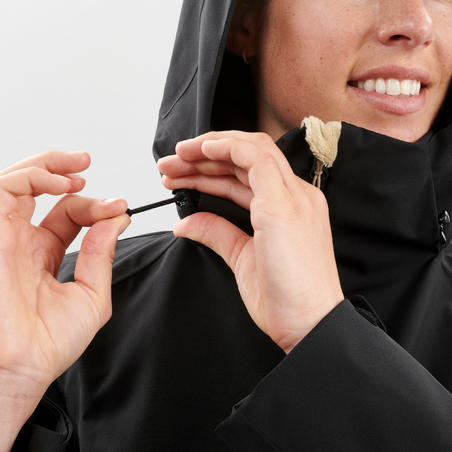 WOMEN'S DOWNHILL SKI JACKET 500 - BLACK