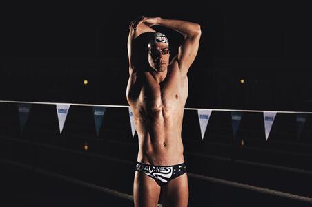 Men's Swimming Briefs 900 Print - New Zealand