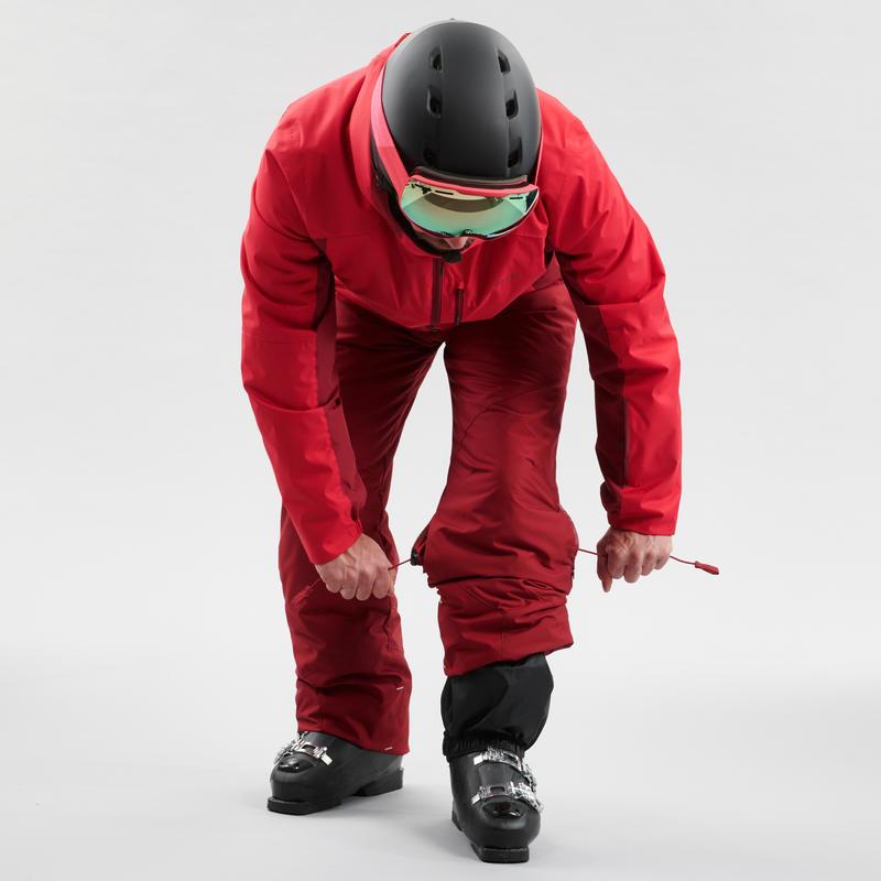 MEN'S DOWNHILL SKI TROUSERS 180 - BURGUNDY