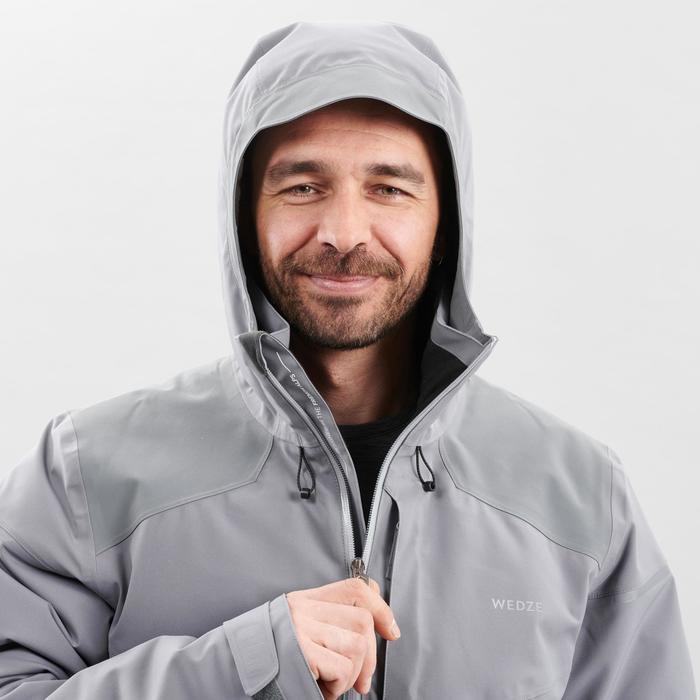 Ski-jas voor pisteskiën heren 580 grijs