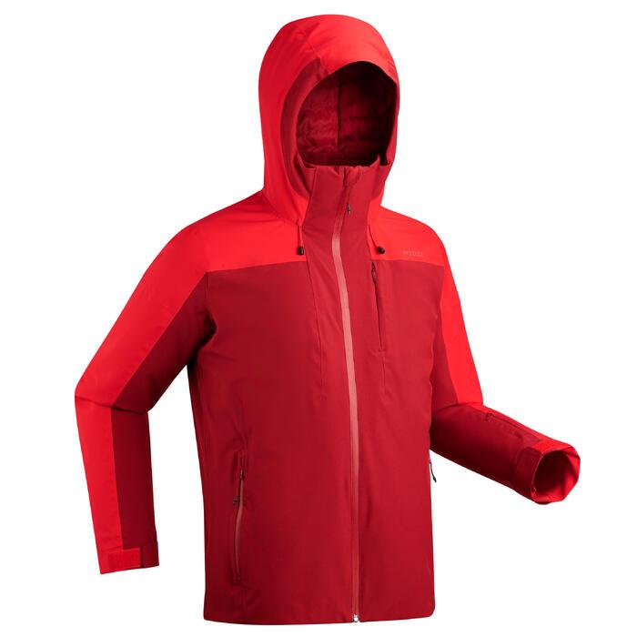 Ski-jas voor pisteskiën heren 500 rood