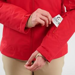 Skijacke Piste 580 Damen rot