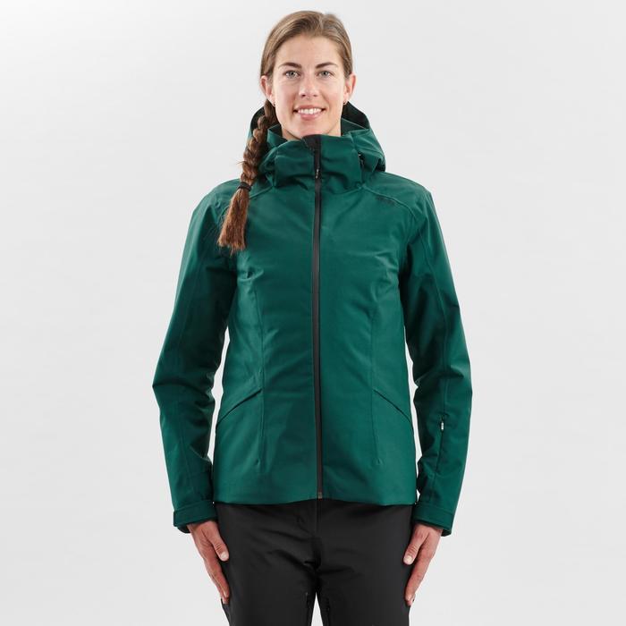 Skijacke Piste 500 Damen grün