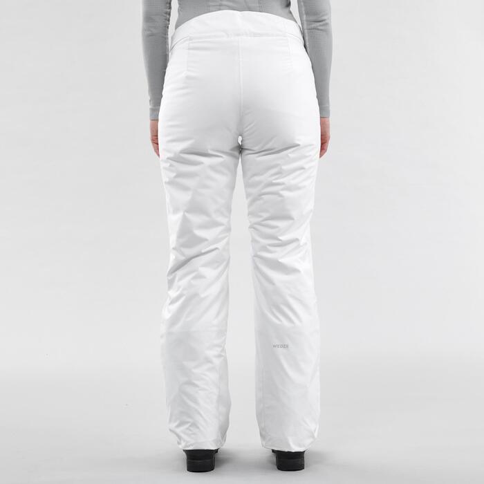 Skihose Piste 150 Damen weiß