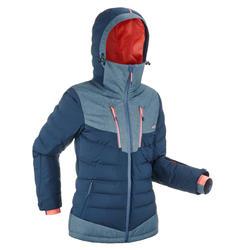 Skijacke Daunenjacke Piste 900 Warm Damen blau