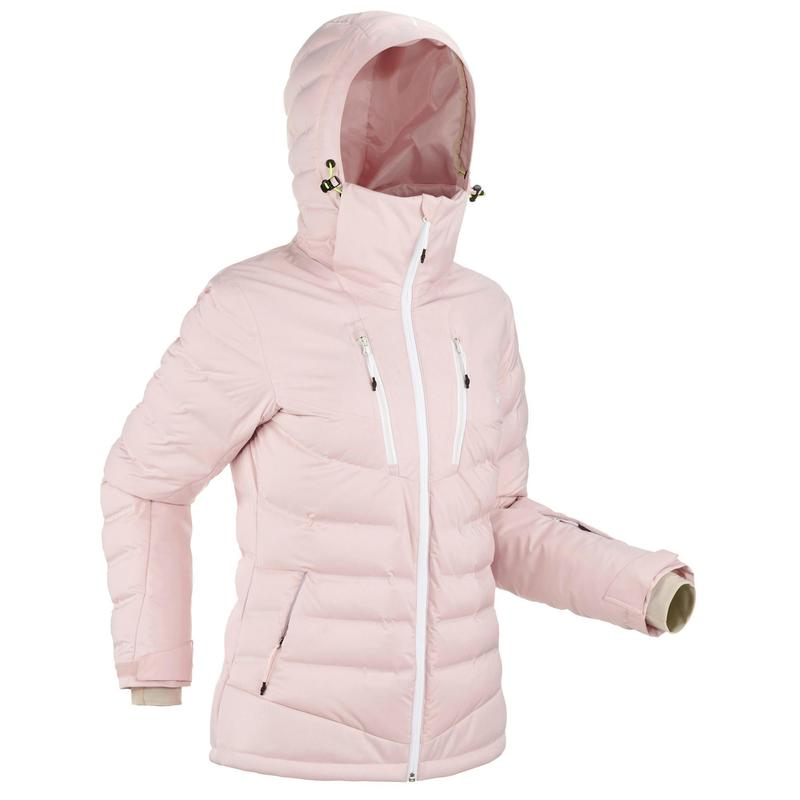 Women's Warm Padded Ski Jacket 900 Pink