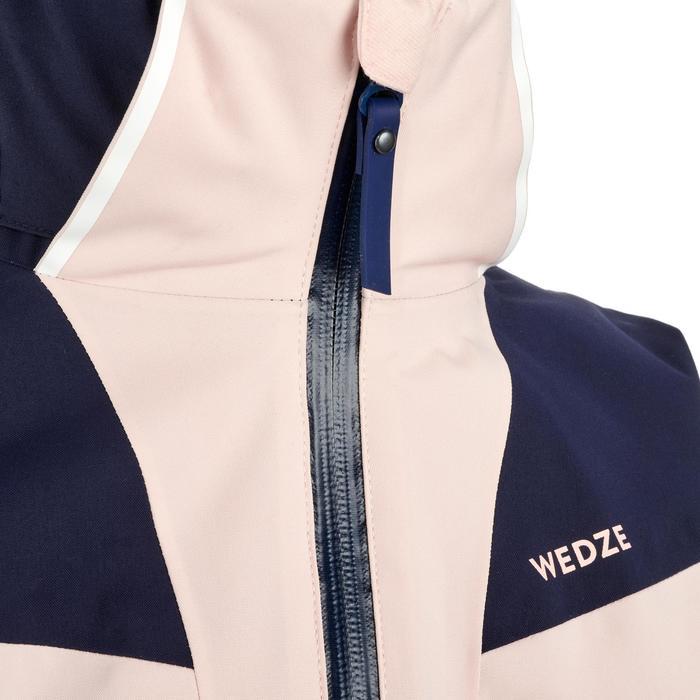 Ski-jas voor kinderen 900 marineblauw/poederroze