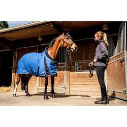Manta Cuadra Equitación Fouganza STABLE 400 azul eléctrico Caballo y Poni
