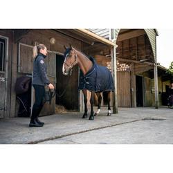 Couverture d'écurie équitation cheval et poney STABLE 400 marine