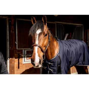 Staldeken ruitersport paard en pony Stable 300 marineblauw