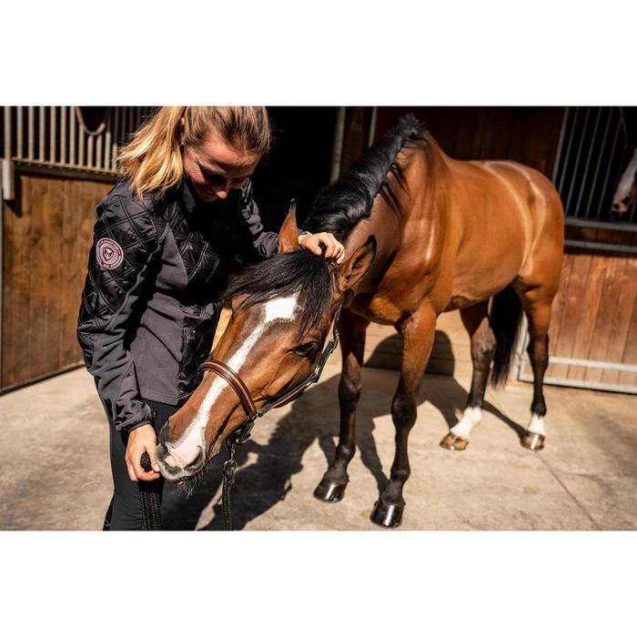 Polaire équitation femme 500 WARM gris