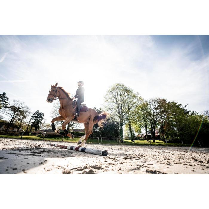 Polo d'équitation homme à manches longues et chaud 500 WARM marine/bordeaux