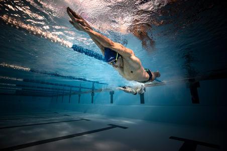 Goggles Natación Aguas Abiertas Nabaiji Adulto NEGR/VERD Competición Antivaho