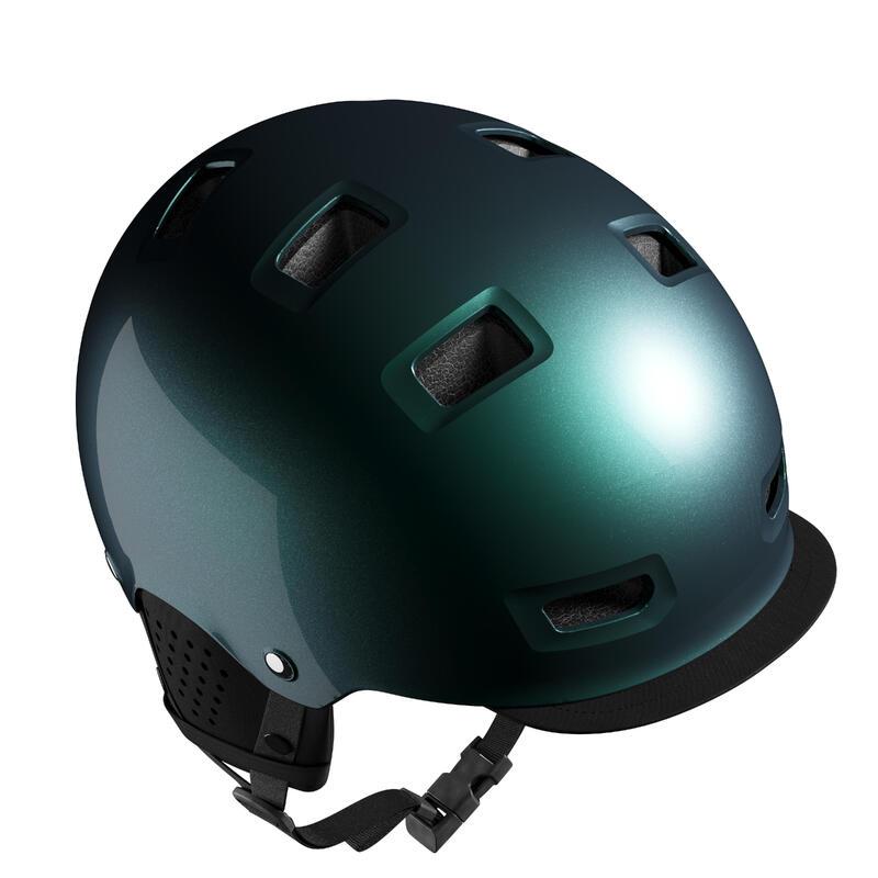 500 Urban Cycling Bowl Helmet - Petrol Blue