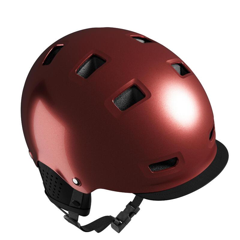 500 City Cycling Bowl Helmet - Brick Red