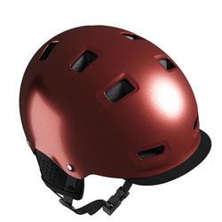 Casco bici città bowl 500 rosso