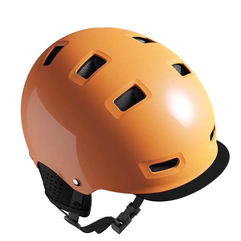URBAN / INTERMODAL HELMET Cycling - 500 Cycling Bowl Helmet Mango BTWIN - Cycling
