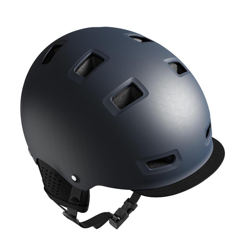 500 City Cycling Bowl Helmet - Dark Blue