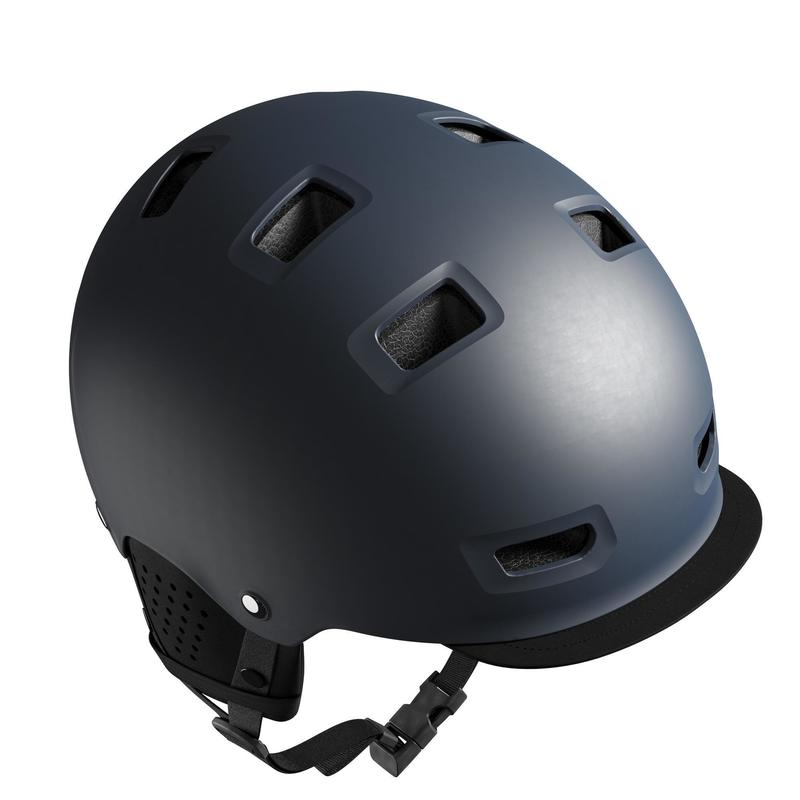 500 Urban Cycling Bowl Helmet - Dark Blue