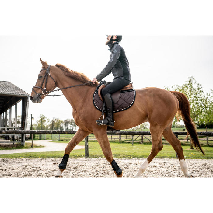 Tapis de selle équitation cheval 540 marron