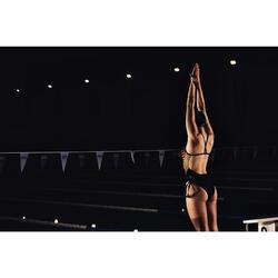 Maillot de bain de natation femme une pièce Lexa Gani noir jaune