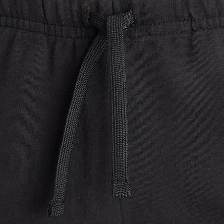 Celana Pendek Katun Penyerap Keringat Anak Laki-laki 500 - Hitam