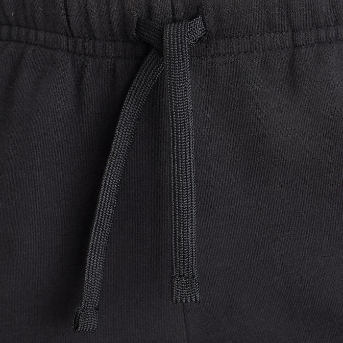 Ademende short voor gym jongens 500 katoen zwart