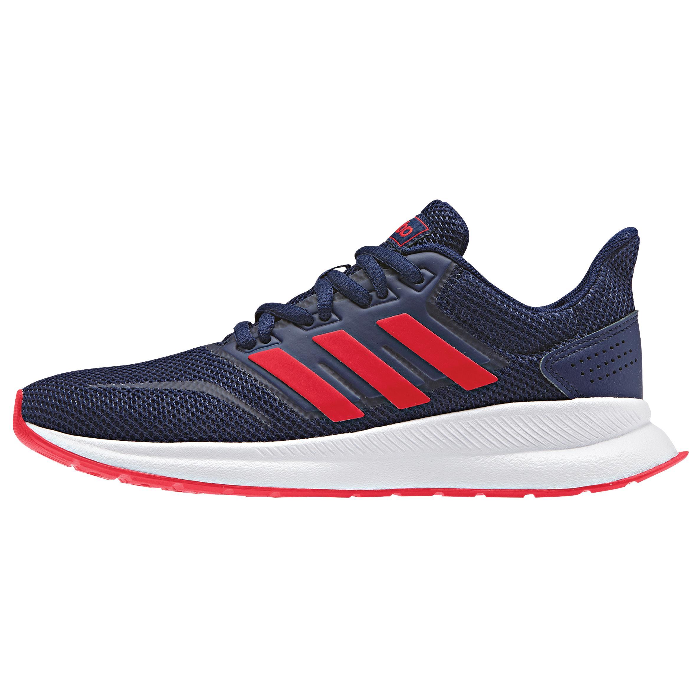 Chaussures marche enfant Adidas Falcon bleu / rouge