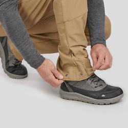 男款超保暖雪地健行長褲SH500-棕色。