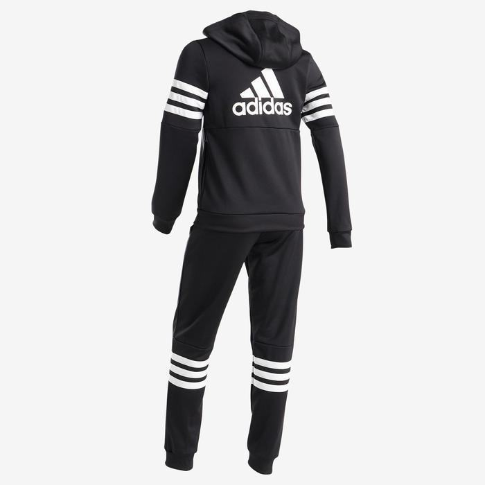 fabriek authentiek designer mode waar te kopen Trainingspak met kap voor meisjes, zwart met Adidas-logo op de borst