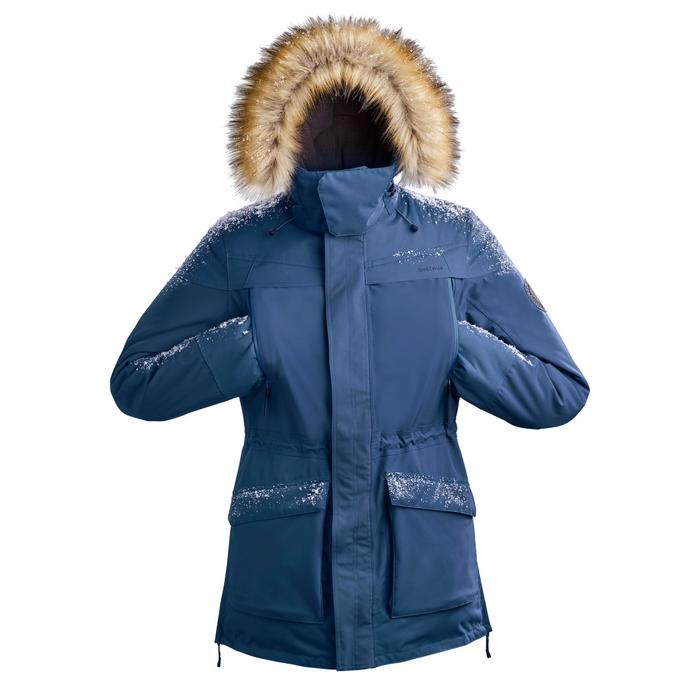 Winterjacke Parka Winterwandern SH500 Ultra-warm Herren blau