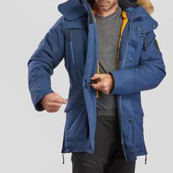 Men's Snow Hiking Jacket SH500 Ultra-Warm - Blue.