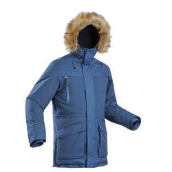 Parka cálida impermeable de senderismo nieve hombre SH500 ultra-warm azul