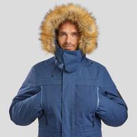 Veste de randonnée neige homme SH500 ultra-warm bleue.