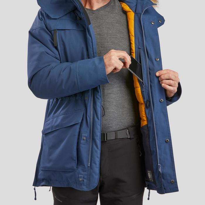 Men's Warm Waterproof Snow Hiking Parka SH500 Ultra-Warm - Blue.