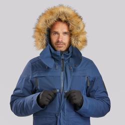 Winterjacke Parka Winterwandern SH500 Wasserdicht Ultra-warm Herren blau