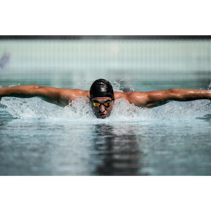 Lunettes de natation 900 B-FAST Noir Rouge verres miroirs
