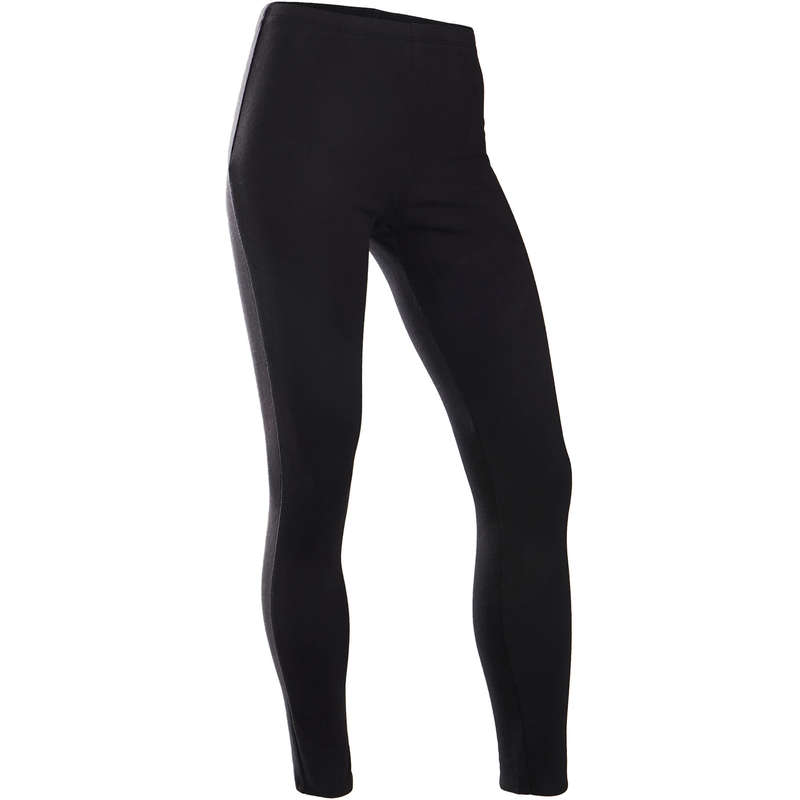 GIRL EDUCATIONAL GYM COLD WEATHER APP Fitness and Gym - 100 Girls' Warm Gym Leggings DOMYOS - Gym Activewear
