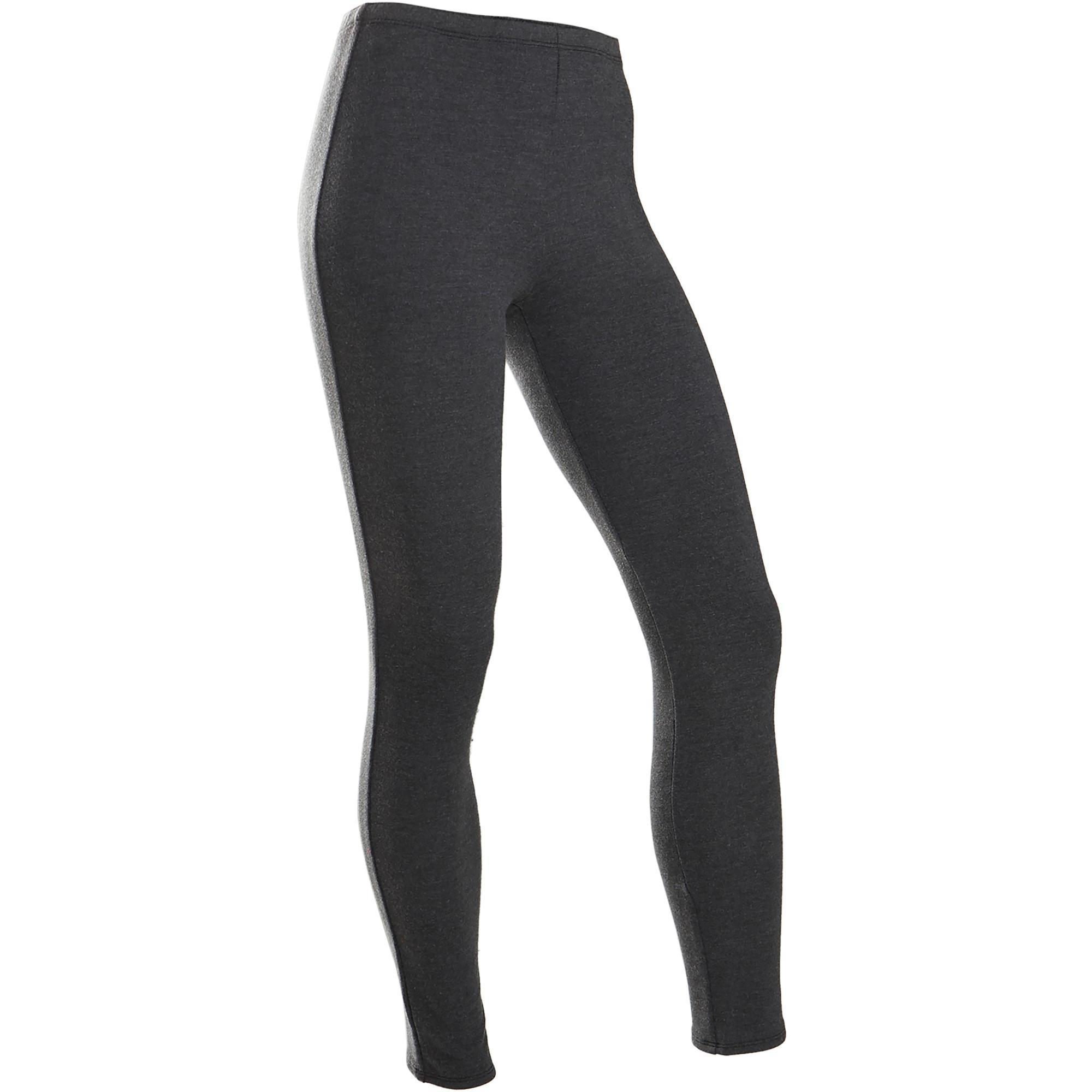Legging chaud 100 fille gym enfant gris domyos