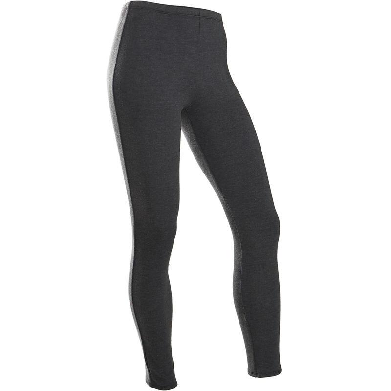 Warme legging voor gym meisjes 100 grijs