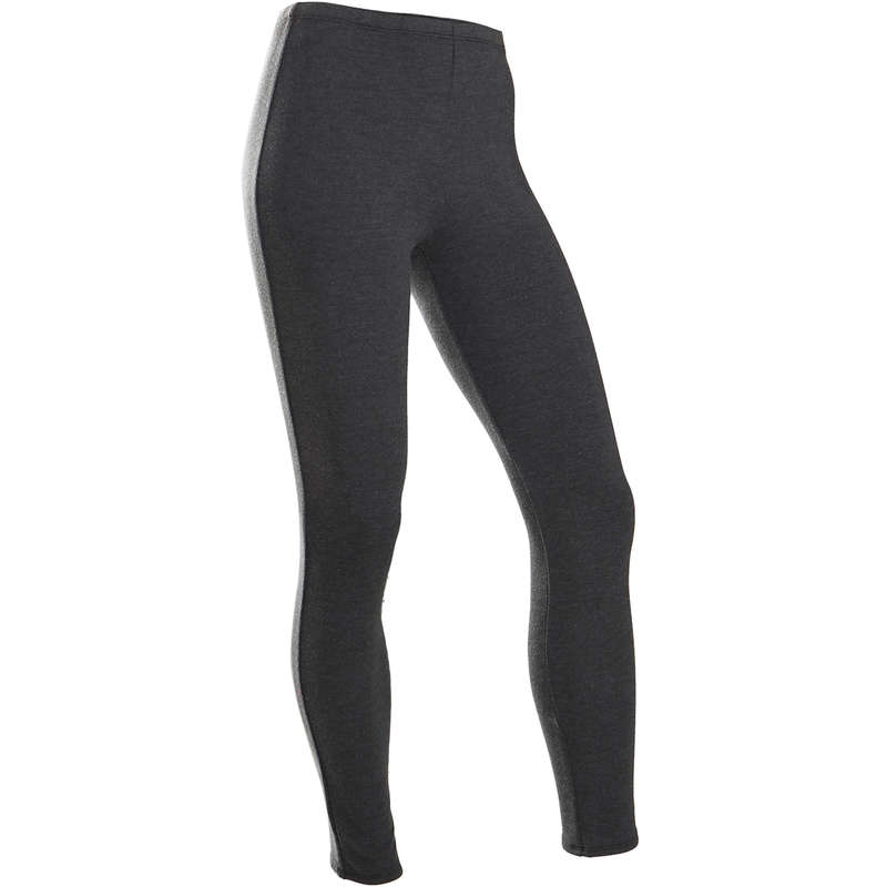 GIRL EDUCATIONAL GYM COLD WEATHER APP Fitness and Gym - 100 Warm Girls' Gym Leggings DOMYOS - Gym Activewear