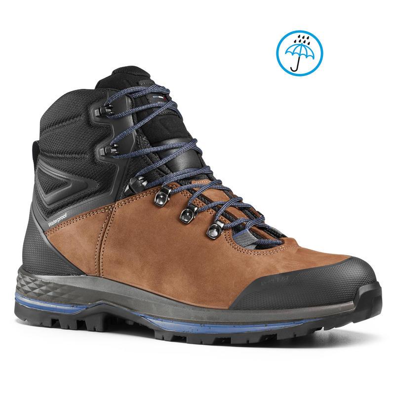 0f9bf91e419 Men's Leather Mountain Trekking Boots TREK100