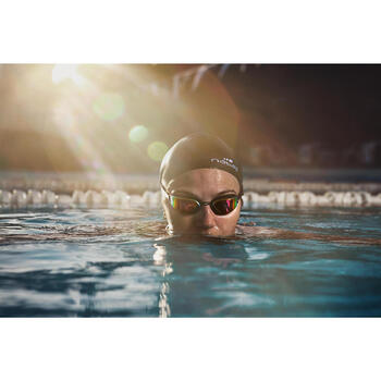 Zwembril spiegelend glas B-fast zwart/rood
