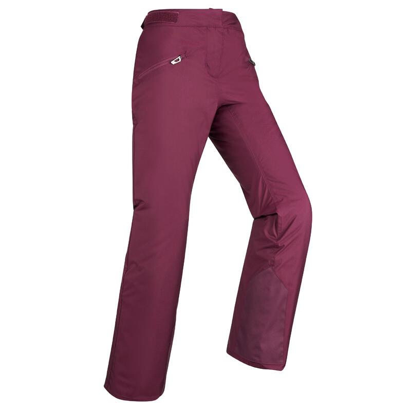Women's Downhill Ski Trousers - Plum