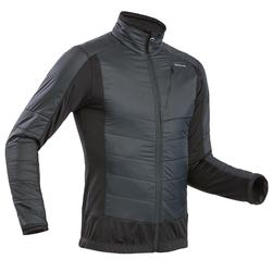 Men's Hybrid Snow Hiking Fleece SH900 X-Warm - Black.