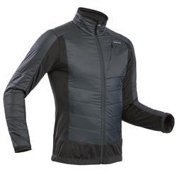 男款超保暖雪地健行混合刷毛外套SH900-黑色。