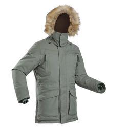 Men's Warm Waterproof Snow Hiking Parka SH500 Ultra-Warm - Khaki.