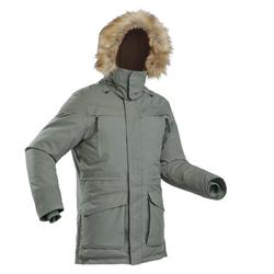 Men's snow hiking parka SH500 ultra-warm - khaki