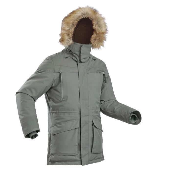 Winterjacke Parka Winterwandern SH500 Wasserdicht Ultra-warm Herren khaki