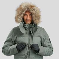 Veste de randonnée neige homme SH500 ultra-warm kaki.